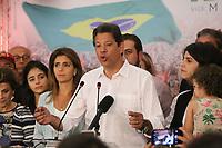 28.10.2018 - Fernando Haddad discursa após derrota nas eleições em SP