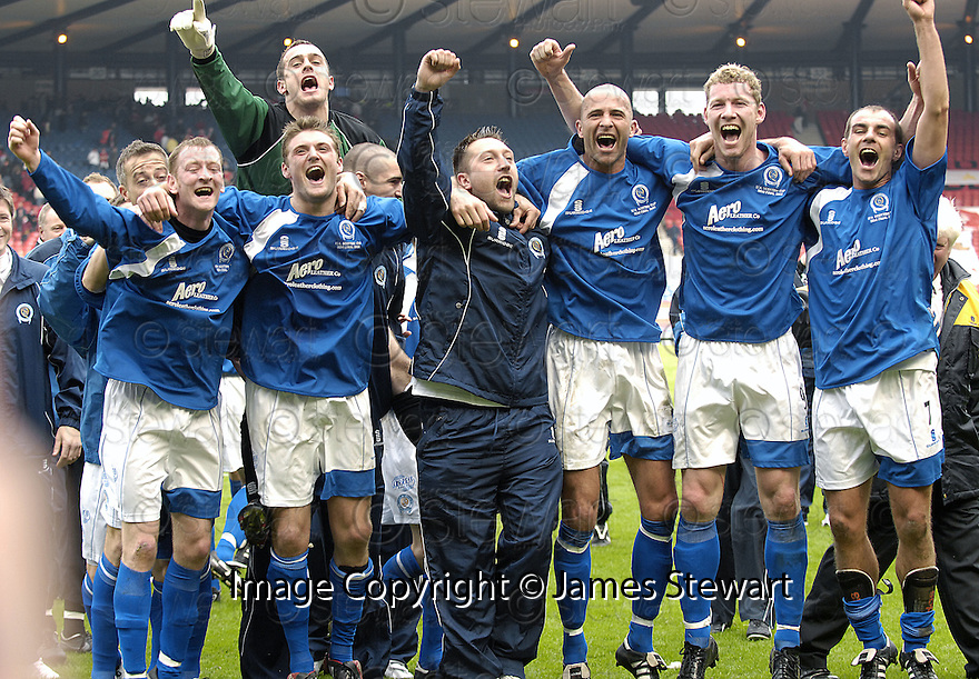 12/04/2008    Copyright Pic: James Stewart.File Name : sct_jspa27_qots_v_aberdeen.QUEEN OF THE SOUTH PLAYERS CELEBRATE AT THE END OF THE GAME...James Stewart Photo Agency 19 Carronlea Drive, Falkirk. FK2 8DN      Vat Reg No. 607 6932 25.Studio      : +44 (0)1324 611191 .Mobile      : +44 (0)7721 416997.E-mail  :  jim@jspa.co.uk.If you require further information then contact Jim Stewart on any of the numbers above........