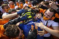 July 4th 2021;  Red Bull Ring, Spielberg, Austria; F1 Grand Prix of Austria, race day;   F1 Grand Prix of Austria 4 Lando Norris GBR, McLaren F1 Team celebrates his 3rd placed finish