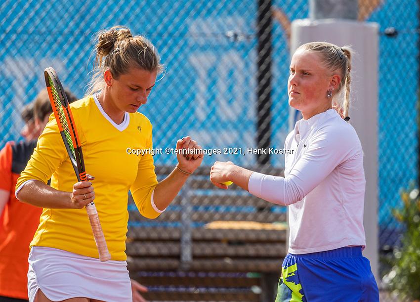 Amstelveen, Netherlands, 6 Juli, 2021, National Tennis Center, NTC, Amstelveen Womans Open, Doubles: Quirine Lemoine (NED) and Suzan Lamens (NED) (R)<br /> Photo: Henk Koster/tennisimages.com