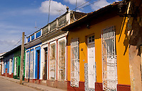 Colorful buildings of old colonial village of Trinidad Cuba