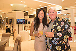 John Daly and his companion during the Red Carpet event at the World Celebrity Pro-Am 2016 Mission Hills China Golf Tournament on 20 October 2016, in Haikou, China. Photo by Weixiang Lim / Power Sport Images