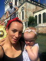 Pictured: (L-R) Kim Rowlands with daughter Kiara Moore (IMAGE TAKEN FROM PARENTS OPEN SOCIAL MEDIA PAGE)<br /> Re: The funeral of two year old Kiara Moore, who died after being recovered from a silver Mini car found in river Teifi in Cardigan will be held today (Tue 27 Mar 2018) at Parc Gwyn Crematorium, Narberth, west Wales.<br /> Kiara was taken at the University Hospital of Wales in Cardiff after being rescued but was pronounced dead.<br /> It is believed the car she was in, rolled down a slipway while her mother got out momentarily to get cash out of the family business premises.<br /> Her parents Jet Moore and Kim Rowlands have expressed their grief on social media.