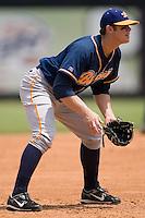 Montgomery third baseman Evan Longoria (6) on defense versus Carolina at Five County Stadium in Zebulon, NC, Wednesday, July 18, 2007.