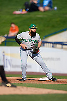 Clinton LumberKings first baseman Kristian Brito (23) during a game against the West Michigan Whitecaps on May 3, 2017 at Fifth Third Ballpark in Comstock Park, Michigan.  West Michigan defeated Clinton 3-2.  (Mike Janes/Four Seam Images)