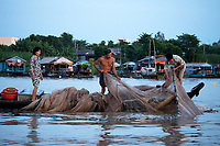 Life on the waterways in the Mekong Delta at Chau Doc, Vietnam