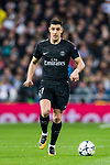 Yuri Berchiche of Paris Saint Germain in action during the UEFA Champions League 2017-18 Round of 16 (1st leg) match between Real Madrid vs Paris Saint Germain at Estadio Santiago Bernabeu on February 14 2018 in Madrid, Spain. Photo by Diego Souto / Power Sport Images