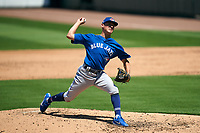 Toronto Blue Jays pitcher CJ Van Eyk (59) during a Minor League Spring Training game against the Detroit Tigers on April 22, 2021 at the Joker Marchant Stadium in Lakeland, Florida.  (Mike Janes/Four Seam Images)