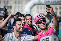RIgoberto Uran (COL/Cannondale Drapac) with a pre race  selfie<br /> <br /> 104th Liège - Bastogne - Liège 2018 (1.UWT)<br /> 1 Day Race: Liège - Ans (258km)