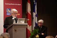 AISLIN (Terry Mosher), caricaturiste de la Gazette de Montreal, Decembre 2007<br /> <br /> PHOTO :  Agence  Quebec Presse