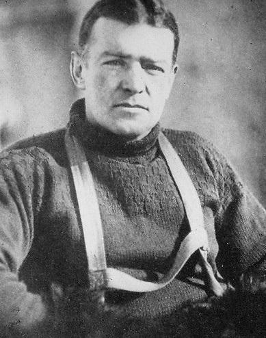 """A studio portrait of """"Ernest Shackleton the Explorer""""."""