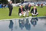 Equestrian - Showjumping - Meydan FEI Nations Cup.Officials get the course ready for the Meydan FEI Nations Cup at the Royal Dublin Society (RDS) in Dublin.