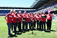 SAN JOSE, CA - JUNE 8: Silicon Valley Gay Men's Chorus during a game between FC Dallas and San Jose Earthquakes at Avaya Stadium on June 8, 2019 in San Jose, California.