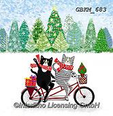 Kate, CHRISTMAS ANIMALS, WEIHNACHTEN TIERE, NAVIDAD ANIMALES, paintings+++++,GBKM683,#xa#