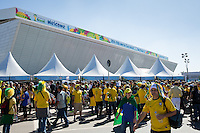 General View of Sao Paulo Stadium - Arena Corinthians with fans