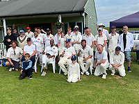 BNPS.co.uk (01202 558833)<br /> Pic: BNPS<br /> <br /> Pictured: Teams after a game at Broadwindsor Cricket Club  <br /> <br /> One of the most picturesque cricket grounds in England has been saved from developers after a village club raised £50,000 to buy it.<br /> <br /> Broadwindsor Cricket Club had leased the idyllic Middleton-Hands Ground in Dorset for a peppercorn rent from a local family since 1965.<br /> <br /> But they were hit for six last year when descendants of the late cricket-loving landowners gave them notice to vacate the venue and remove the pavilion.