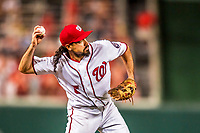 15 August 2017: Washington Nationals third baseman Anthony Rendon in action against the Los Angeles Angels at Nationals Park in Washington, DC. The Nationals defeated the Angels 3-1 in the first game of their 2-game series. Mandatory Credit: Ed Wolfstein Photo *** RAW (NEF) Image File Available ***