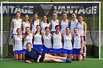 Auckland Blue team photo. 2021 National Women's Under-18 Hockey Tournament at National Hockey Stadium in Wellington, New Zealand on Sunday, 11 July 2021. Photo: Dave Lintott / lintottphoto.co.nz https://bwmedia.photoshelter.com/gallery-collection/Under-18-Hockey-Nationals-2021/C0000T49v1kln8qk