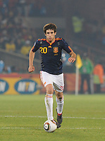 Second-half substitute Javier Martinez. Spain won Group H following a 2-1 defeat of Chile in Pretoria's Loftus Versfeld Stadium, Friday, June 25th, at the 2010 FIFA World Cup in South Africa..