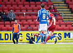 St Johnstone v Aberdeen…..24.11.19   McDiarmid Park   SPFL<br />Sam Cosgrove scores for Aberdeen<br />Picture by Graeme Hart.<br />Copyright Perthshire Picture Agency<br />Tel: 01738 623350  Mobile: 07990 594431