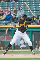 Kyle Kubitza (10) of the Salt Lake Bees at bat against the Tacoma Rainiers in Pacific Coast League action at Smith's Ballpark on May 7, 2015 in Salt Lake City, Utah.  (Stephen Smith/Four Seam Images)