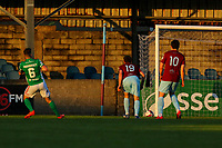 Gearoid Morrissey of Cork City takes a shot which hits the post.<br /> <br /> Cobh Ramblers v Cork City, SSE Airtricity League Division 1, 28/5/21, St. Colman's Park, Cobh.<br /> <br /> Copyright Steve Alfred 2021.
