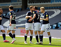 Millwall players celebrating their first goal during Millwall vs Bristol City, Sky Bet EFL Championship Football at The Den on 1st May 2021