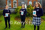 Students at the Presentation Secondary school Castleisland launch their cookbook of International Taste at the school on Friday. L to r: Eva Sturm, Marie Westphal and Franziska Rau.