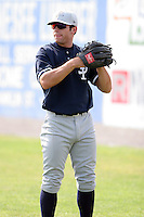 July 9th 2007:  Austin Krum of the Staten Island Yankees, Class-A affiliate of the New York Yankees, at Dwyer Stadium in Batavia, NY.  Photo by:  Mike Janes/Four Seam Images