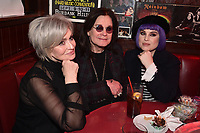 """HOLLYWOOD - FEBRUARY 20: Sharon Osbourne and Kelly Osbourne attend Ozzy Osbourne global tattoo and album listening party to celebrate his new album """"Ordinary Man"""" on February 20, 2020 in Hollywood, California. (Photo by Lionel Hahn/Epic Records/PictureGroup)"""
