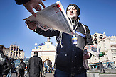Pro EU Demonstrationen in Kiew, Vorbereitungen am 03.12.2013, morgendliche Stimmung auf dem Maidan