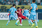 Shanghai FC Forward Elkeson De Oliveira Cardoso (C) fights for the ball with Jiangsu FC Defender Zhou Yun (L) during the AFC Champions League 2017 Round of 16 match between Jiangsu FC (CHN) vs Shanghai SIPG FC (CHN) at the Nanjing Olympic Stadium on 31 May 2017 in Nanjing, China. Photo by Marcio Rodrigo Machado / Power Sport Images