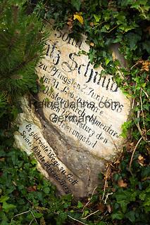 Austria, Styria, village Johnsbach at Johnsbach Valley with alpinist cemetery and parish church Saint Giles   Oesterreich, Steiermark, Johnsbach: im Johnsbachtal, Bergsteigerfriedhof an der Kath. Pfarrkirche hl. Aegydius
