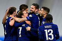 24th March 2021; Stade De France, Saint-Denis, Paris, France. FIFA World Cup 2022 qualification football; France versus Ukraine;  France team celebrates the goal from GRIEZMANN ANTOINE (France)