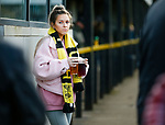 A female Hucknall fan with pre match refreshment. Hucknall Town v Heanor Town, 17th October 2020, at the Watnall Road Ground, East Midlands Counties League. Photo by Paul Thompson.