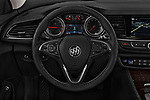 Car pictures of steering wheel view of a 2018 Buick Regal TourX Essence AWD 5 Door Wagon
