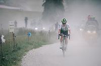 Tom-Jelte Slagter (NED/Dimension Data) over the gravel roads up the Montée du plateau des Glières (HC/1390m)<br /> <br /> Stage 10: Annecy > Le Grand-Bornand (159km)<br /> <br /> 105th Tour de France 2018<br /> ©kramon