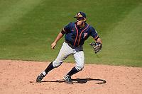 Cal State Fullerton Titans infielder Timmy Richards (13) during a game against the Louisville Cardinals on February 15, 2015 at Bright House Field in Clearwater, Florida.  Cal State Fullerton defeated Louisville 8-6.  (Mike Janes/Four Seam Images)