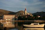 Trogir harbor at sunrise