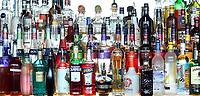 Nederland - Amsterdam - 2018.  Flessen met alcoholische dranken.   Foto Berlinda van Dam / Hollandse Hoogte.