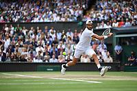 11th July 2021, Wimbledon SW London England, AELTC Wimbledon Tennis Championships, mens final, Novak Djokovic (Ser)  versus Matteo Berrettini (Ita)