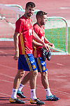 Gerard Pique and Jordi Alba during training of the spanish national football team in the city of football of Las Rozas in Madrid, Spain. August 30, 2017. (ALTERPHOTOS/Rodrigo Jimenez)