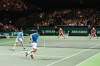ABN AMRO World Tennis Tournament, Rotterdam, The Netherlands, 19 Februari, 2017, Ivan Dodig (CRO), Marcel Granollers (ESP), Wesley Koolhof (NED), Matwe Middelkoop (NED)<br /> Photo: Henk Koster