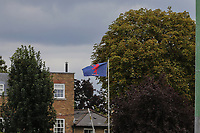 General view of the London Scottish flag during the Greene King IPA Championship match between London Scottish Football Club and Ealing Trailfinders at Richmond Athletic Ground, Richmond, United Kingdom on 8 September 2018. Photo by David Horn.