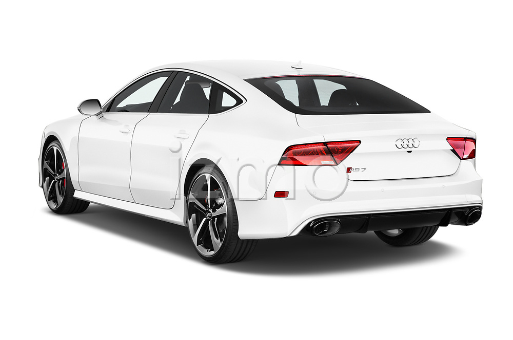Car pictures of rear three quarter view of 2015 Audi RS7  quattro tiptronic Prestige 5 Door Hatchback angular rear
