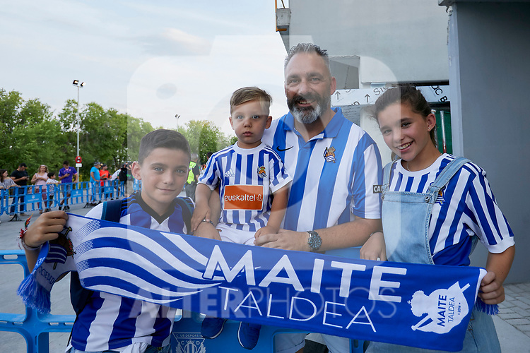 Leganes' supporters before La Liga match. August 24, 2018. (ALTERPHOTOS/A. Perez Meca)