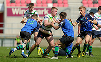 Monday 22nd April 2019 | 2019 McCrea Cup Final<br /> <br /> Jos McConkey during the McCrea Cup final between Queens 2s and Grosvenor at Kingspan Stadium, Ravenhill Park, Belfast. Northern Ireland. Photo John Dickson/Dicksondigital