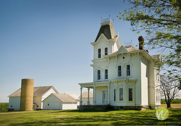 Gothic farmhouse. Castle Hill Farm, Route 224, Ashland County, Ohio.