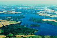 Niendorfer Binnensee, Luftaufnahme, Luftbild, Schleswig-Holstein, Deutschland