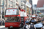 Japan Delegation (JPN), <br /> OCTOBER 7, 2016 :<br /> Japanese medalists of Rio 2016 Olympic and Paralympic Games wave to spectators during a parade from Ginza to Nihonbashi, Tokyo, Japan.<br /> (Photo by Shingo Ito/AFLO)